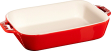 Staub Rektangulær Ildfast Form 20 x 16 cm, Rød