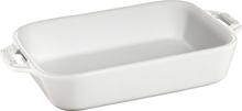 Staub Rektangulær Ildfast Form 20 x 16 cm, Hvit