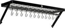 Hahn Premium Vägghylla XL 90x25 cm svart stål