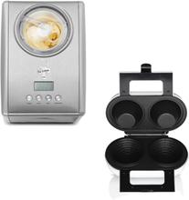 Wilfa ICM-C15 + WBM-550W - Glassmaskin och Våffelskålsjärn