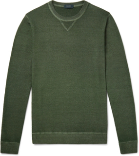 Garment-dyed Virgin Wool Sweater - Green