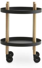 Normann Copenhagen Block Table Rullbord 45 cm Svart