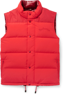 Slim-fit Logo-embroidered Quilted Nylon Down Gilet - Red