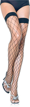 Fence Net Thigh High Svart