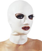 LATE X - Hvid latex maske