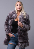 STYLESHOP Perfect Fur Coat Dark Grey