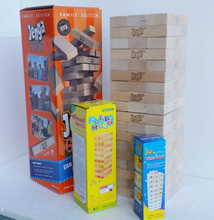 54pcs Extra Biggest Largest Wooden Jenga Giant Game Stack Blocks Building Blocks Hardwood Game Stacks to 5+ feet. Ages 6+ Adults
