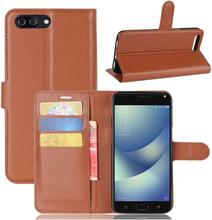 ASUS Zenfone 4 Max 5.5 (ZC554KL) Etui laget av kunstlær og silikon - Brunt