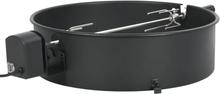 vidaXL Rotisserieset med ring grill 57 cm svart