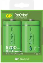 GP Batteries ReCyko D 5700 Laddbara batterier 2-pack