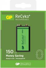 GP Batteries ReCyko 9V 150 Laddbara batterier 1-pack