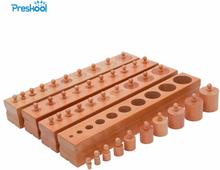 Baby Toy Montessori Cylinder Blocks Sensorial Preschool Training Early Childhood Education Brinquedos Juguetes