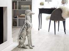 Beliani Dekorativ skulptur silver GREYHOUND