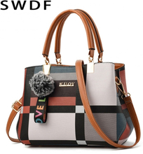 2019 New Luxury Handbag Women Stitching Wild Messenger Bags Designer Brand Plaid Shoulder Bag Female Ladies Totes Crossbody Bags