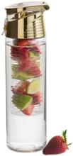 Sagaform Fresh pullo hedelmäkolvilla, kulta