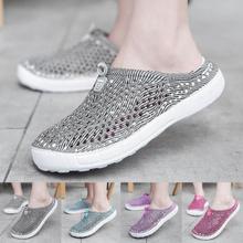 Summer Women Beach Shoes Sandals crocse Shoes Women Ladies Beach Shoes Hollow Out Casual Breathable Holes Flats Sneaker