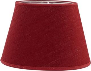 PR Home Oval Lampeskærm Linned Rød 20 cm PR Home