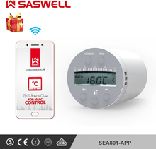SASWELL SEA801-APP Thermostat Temperature Controller heating and accurate TRV programmable controller work with SASEG-01gateway