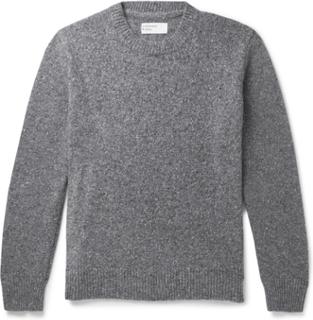 Universal Works - Mélange Wool-blend Sweater - Gray - S,Universal Works - Mélange Wool-blend Sweater - Gray - L,Universal Works - Mélange Wool-blend Sweater - Gray - XS,Universal Works - Mélange Wool-blend Sweater - Gray - XL,Universal Works - Mélange Woo