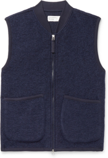Universal Works - Textured Wool-blend Gilet - Blue - M,Universal Works - Textured Wool-blend Gilet - Blue - XL,Universal Works - Textured Wool-blend Gilet - Blue - L,Universal Works - Textured Wool-blend Gilet - Blue - S,Universal Works - Textured Wool-bl