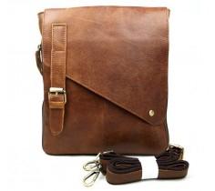 Messenger bag i brunt läder