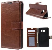 Mankell Samsung Galaxy S6 Edge Lær Case med Kort holder - Brun