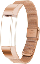 Milanese stainless steel watch strap for Fitbit Alta - Rose Gold