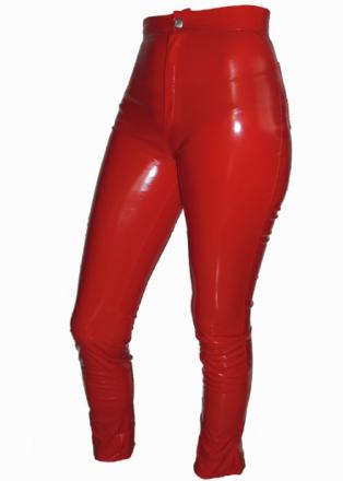 Röda lackjeans