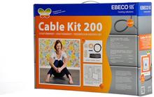 Ebeco Golvvärme Cable Kit 200 (150W) 13,5 m, 1.4 - 1.9 m²