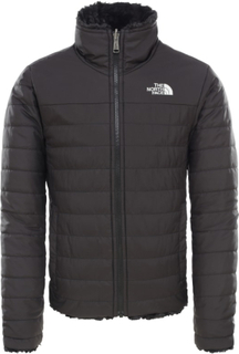 The North Face Girls' Reversible Mossbud Swirl Jacket Barn øvrige lettfôrede jakker Sort S