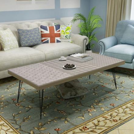 vidaXL Kaffebord 120x60x38 cm Grått