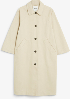 Utility raglan coat - Beige