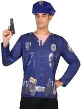 Polis t-shirt för vuxna till maskeraden One-size 00be7bf523074