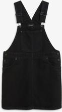 Denim dungaree dress - Black
