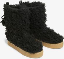 Fluffy snow boots - Black