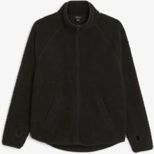 Zip teddy sweater - Black