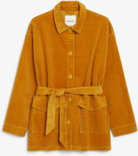 Belted corduroy jacket - Yellow