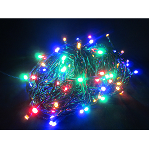 Juleslynge batteri 240 fargede lys LED 25m m/timer