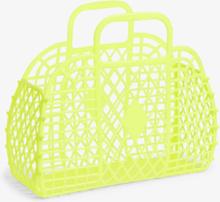 Retro beach basket - Yellow