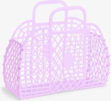 Retro beach basket - Purple