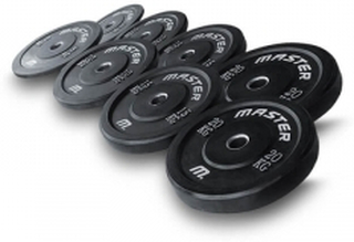Master Fitness Vektpakke 100 kg Bumperplates, Master Vektskiver 50 mm