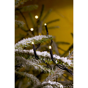 Juleslynge 40 LED Varmhvit Svart Kabel Trafo IP44