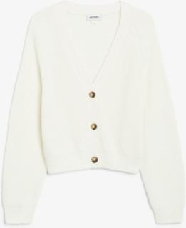Ribbed cardigan - White
