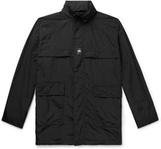 Oversized Logo-appliquéd Shell Jacket - Black