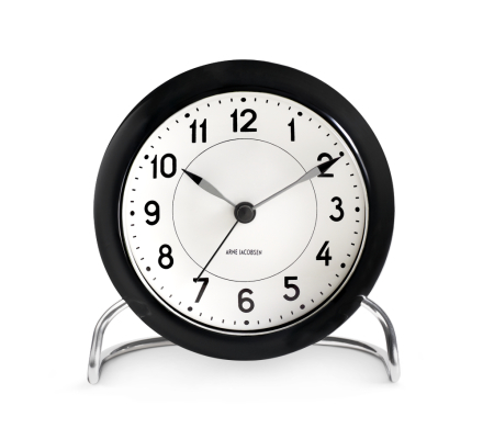 Arne Jacobsen Station Table Clock med alarm