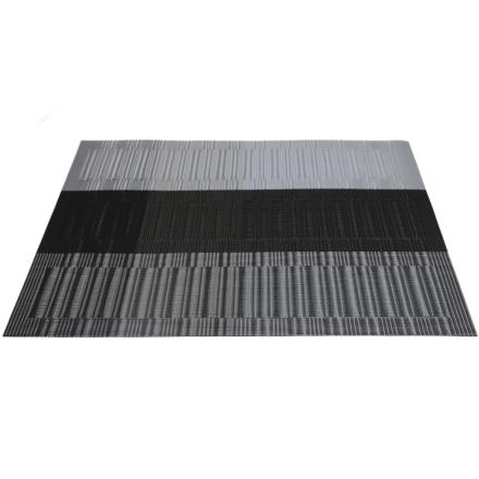 JK Bordbrikker 45x30cm Svart/sølv/grå 4stk