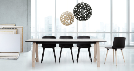 Andersen Furniture T1 Såpet Eik / Hvit Laminat 95 x 220 x H72,5 cm