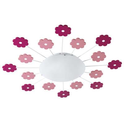 Eglo Viki Tak 1 Rosa / Hvit Blomst D61,5