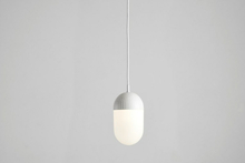 Dot pendant, large white
