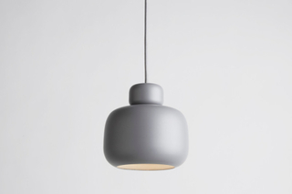 Woud Stone pendant, small grey